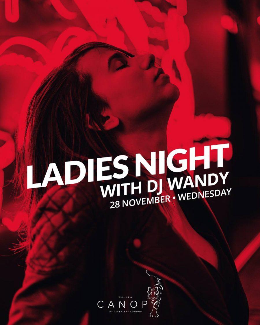 Wednesday 28th November – Ladies Night with DJ Wandy