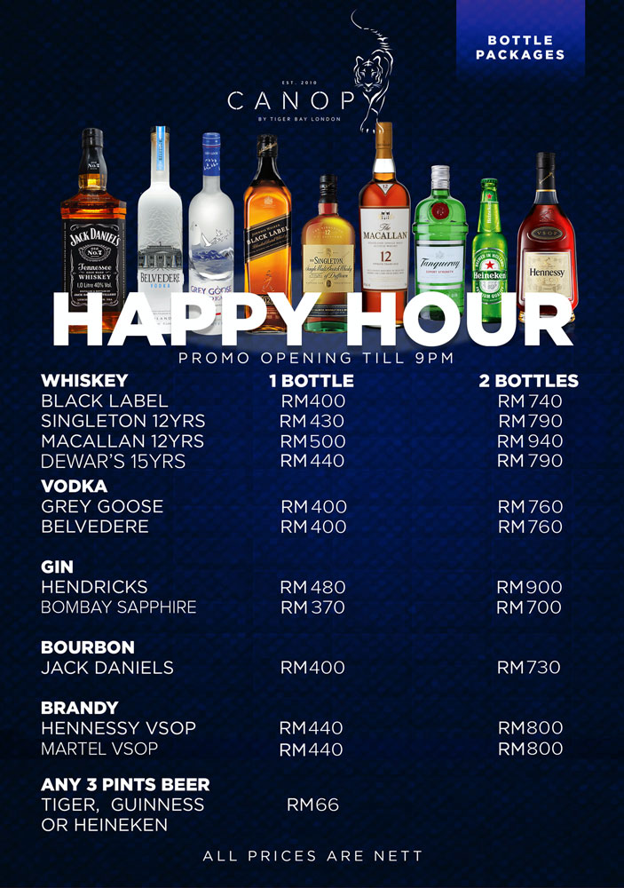 HAPPY HOUR TILL 9PM!