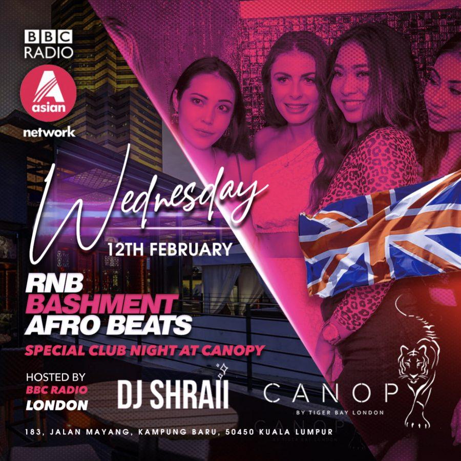 International DJ SHRAII Live – Wednesday 12th February